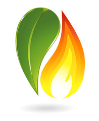 Fire and plant icon