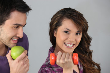 Couple with healthy lifestyle