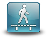 "Light Blue 3D Effect Icon ""Walk On Boardwalk"""
