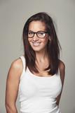 Hünsche Brillenträgerin