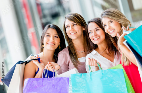 Beautiful shopping women