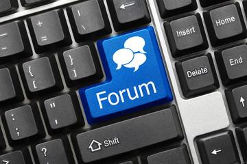Conceptual keyboard - Forum (blue key)