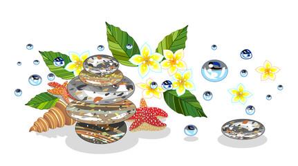 Set of spa symbols