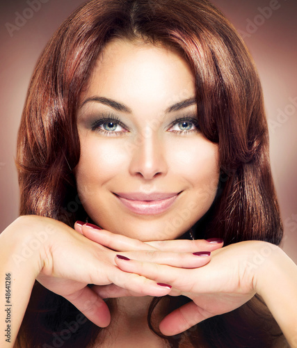 Beauty Woman Portrait. Beautiful Makeup