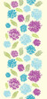 Vector textured painted flower vertical seamless pattern
