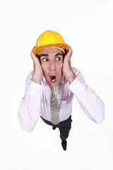 Horrified builder