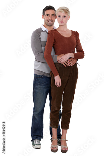 Full length portrait of a loving couple