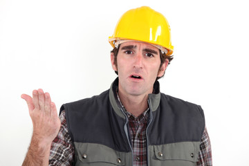 Annoyed builder