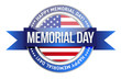 memorial day. us seal and banner