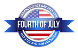 forth of july. us seal and banner
