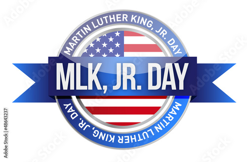 Martin Luther King Jr. us seal and banner