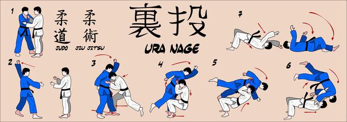 Judo Rear throw