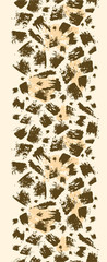 Vector animal brush stroke vertical seamless pattern background