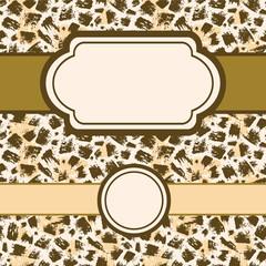 Vector Animal brush stroke set of frames and seamless pattern