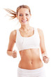 running woman over white