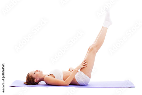 woman doing exercises