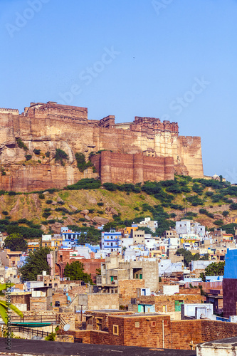 A view of Jodhpur, the Blue City of Rajasthan, India