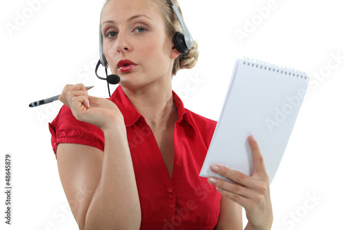 Flirtatious call-center worker