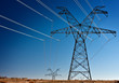 High voltage power transmission towers - 48646447