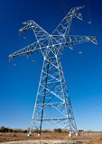 High voltage power transmission tower