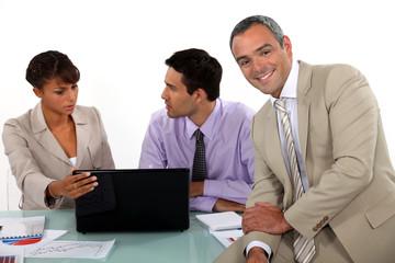 Great atmosphere in business meeting