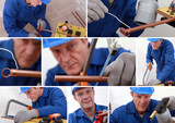 Collage of a tradesman