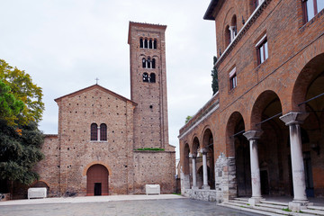 front view of St.francis Basilica in Ravenna