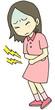 腹痛女の子