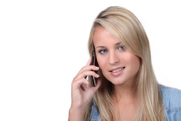 young having phone call