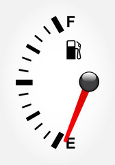 White gas tank illustration