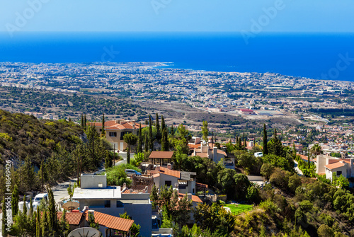 View from mountain, Limassol, Cyprus