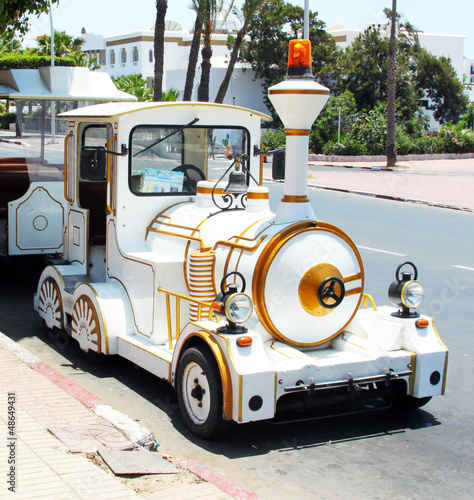 Little street locomotive in Agadir, Morocco