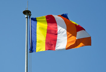 symbolic Buddhist flag