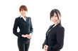 asian businesswomen on white bckground
