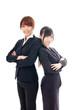 asian businesswomen on white bckground