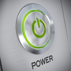 Power button of a computer, energy save