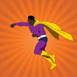 Vector illustration of comic book superhero