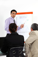 businessman making presentation