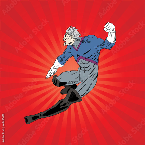 Tuinposter Superheroes Vector illustration of comic book superhero