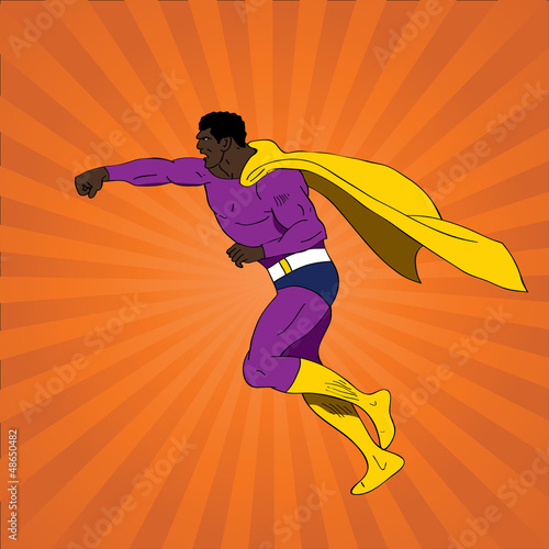 Vector illustration of comic book superhero - 48650482