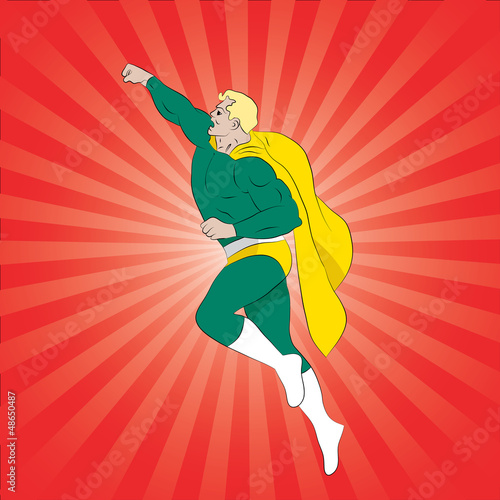 Aluminium Superheroes Vector illustration of comic book superhero