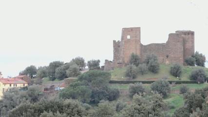 The castle of Scarlino  in province of Grosseto.