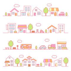 町並み(ピンク色)