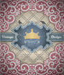 Background with a pattern in vintage style. Vector.