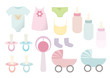 Vector baby things set