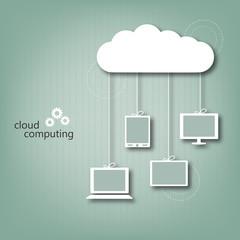 Cloud computing concept - eps10