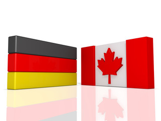 Flags Agreement Canada and Germany