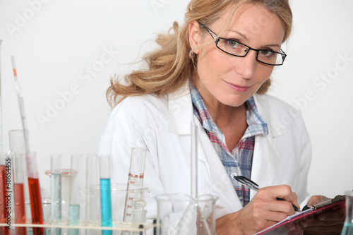 Woman in the laboratory