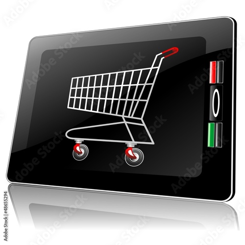 Smart Phone Tablet with Shopping Cart-Carrello Spesa in Computer