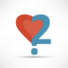 love question. Vector